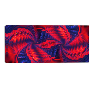 Red and Purple Spiral Abstract Canvas Wall Art Print