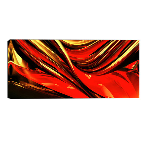 Red Volcano Abstract Canvas Wall Art Print