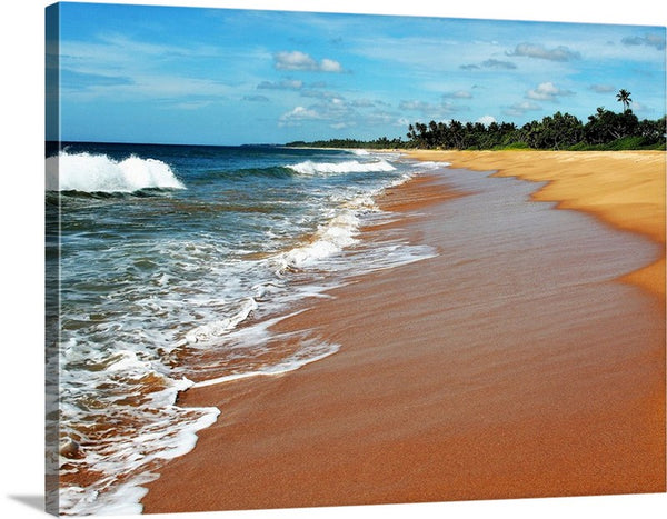 Relaxed Beach Canvas Wall Art Print