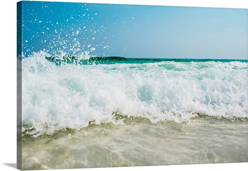 Ride the Waves Seascape Canvas Wall Art Print