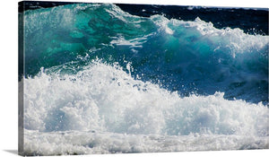 Smashing Waves Canvas Wall Art Print