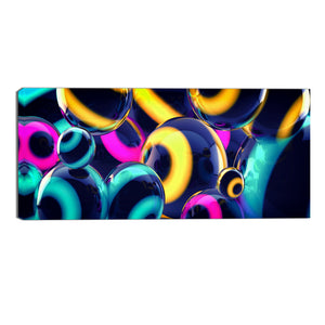 Sphere of Color Abstract Canvas Wall Art Print