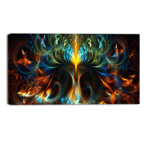 Sprung Out of Control Abstract Canvas Wall Art Print