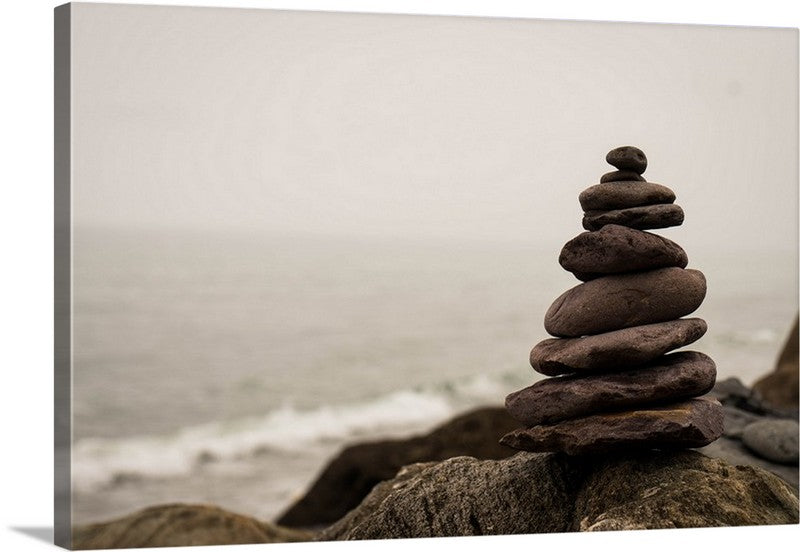 Stone Balanced Canvas Wall Art Print