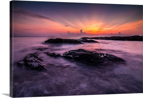 Sunset Seascape Canvas Wall Art Print