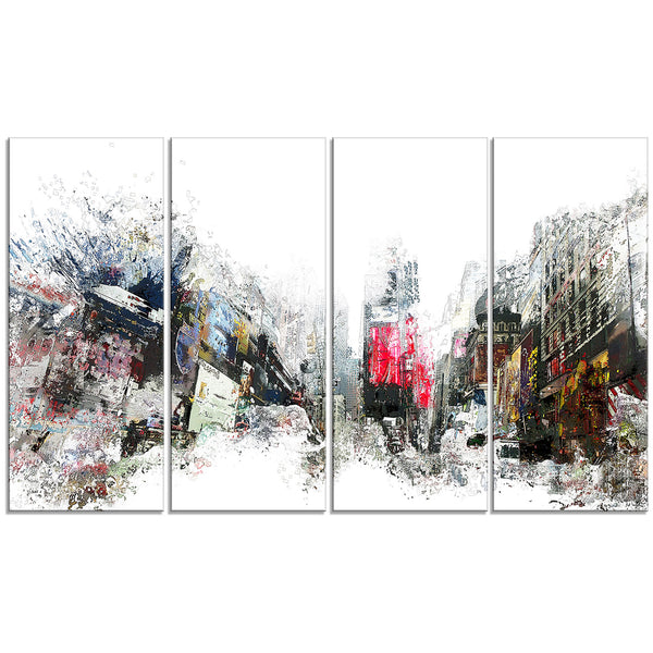 The Awakening Cityscape Canvas Wall Art Print
