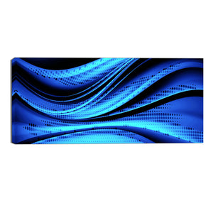 The Blue Rush Canvas Abstract Wall Art Print
