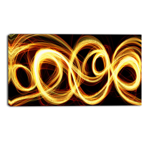 The Golden Rush Canvas Abstract Wall Art Print