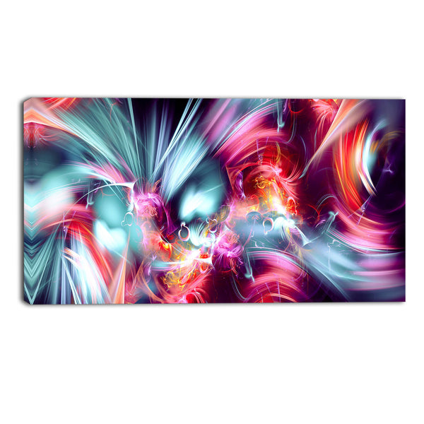The Great Eruption Canvas Abstract Wall Art Print