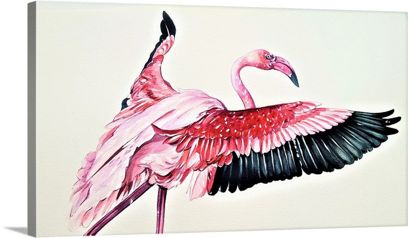 The Greater Flamingo Canvas Wall Art Print