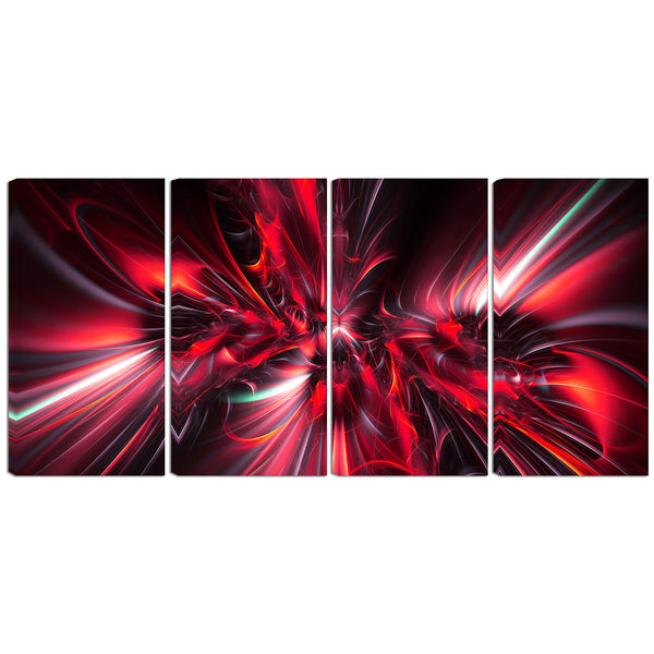 The Red Eruption Abstract Canvas Wall Art Print