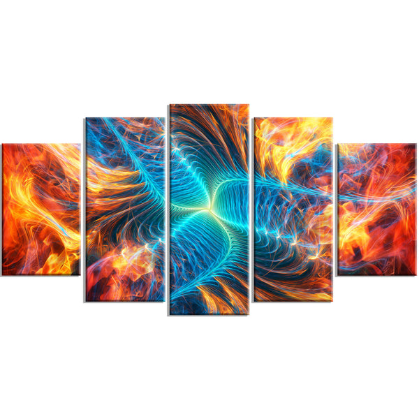 The Wildfire Abstract Canvas Wall Art Print