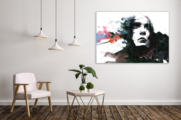 Thoughtfulness Figurative Canvas Wall Art Print