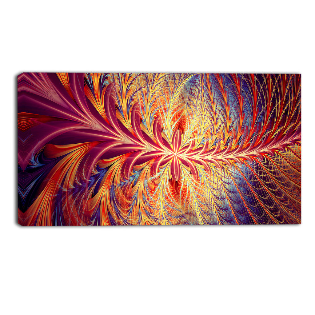 Trails of Color Abstract Canvas Wall Art Print