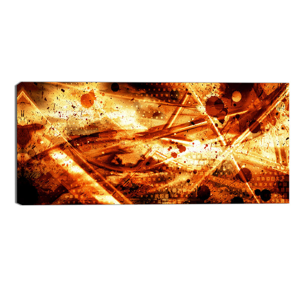 Travel Through Time Abstract Canvas Wall Art Print