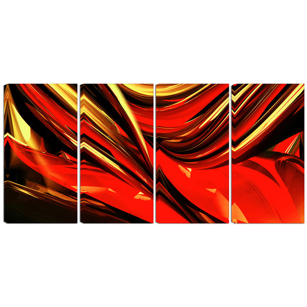 Turn Up the Heat Abstract Canvas Wall Art Print