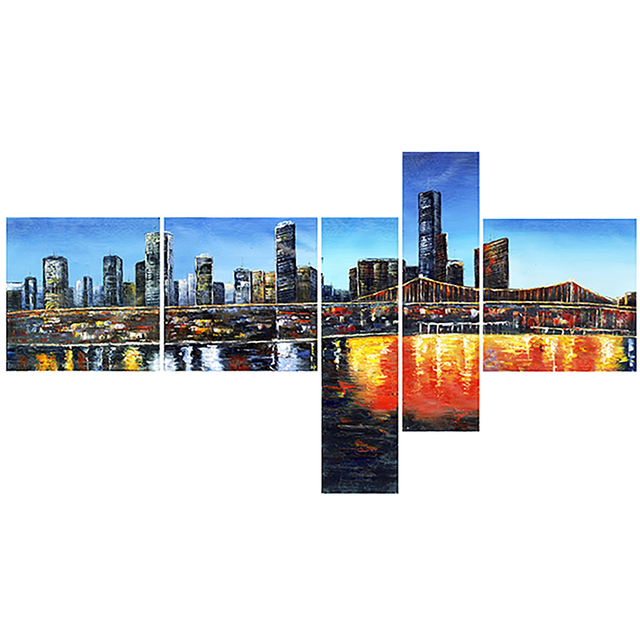 Urban Cityscape Canvas Wall Art Print