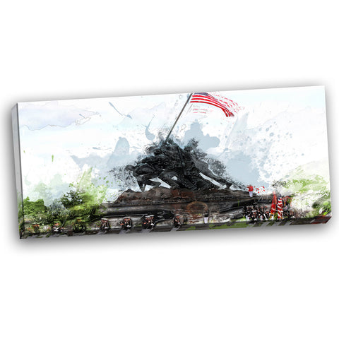 US Monument Landscape Canvas Wall Art Print