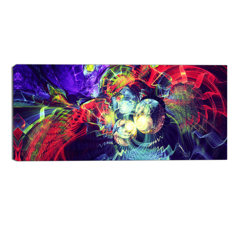 Vibrant Abstract Explosion Canvas Wall Art Print