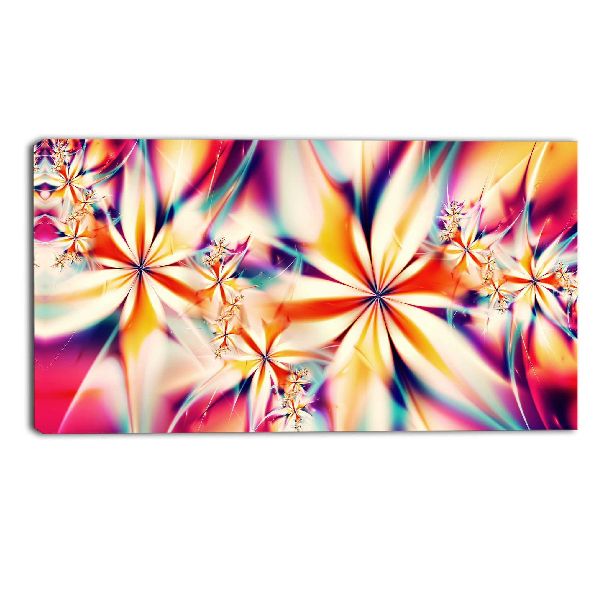 Vibrant Flurry Abstract Canvas Wall Art Print