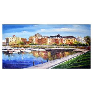 Victoria Cityscape Canvas Wall Art Print