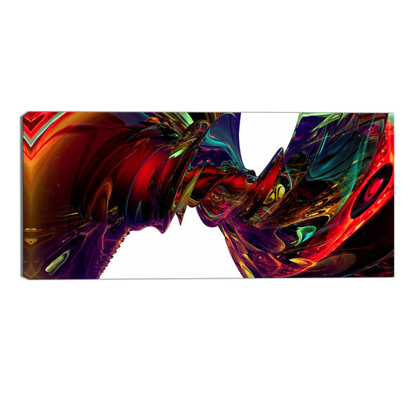 Vivid Whirlwind Abstract Canvas Wall Art Print