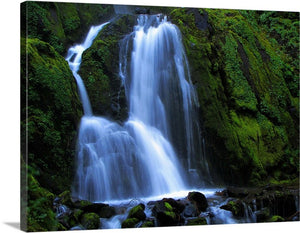 Waterfall Green Spring Canvas Wall Art Print