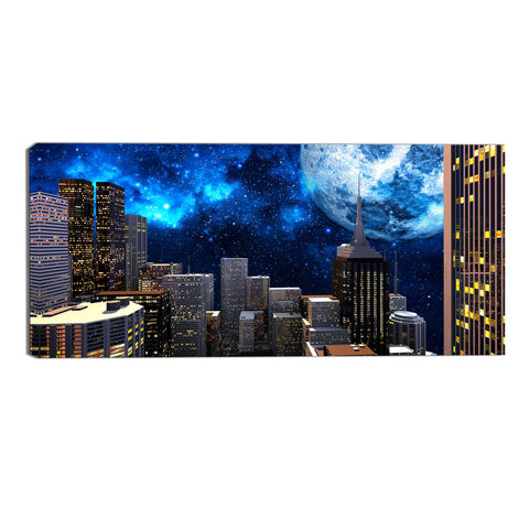 What a Beautiful Night Canvas Abstract Wall Art Print