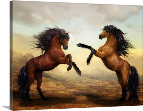 Wild Horse Canvas Wall Art Print