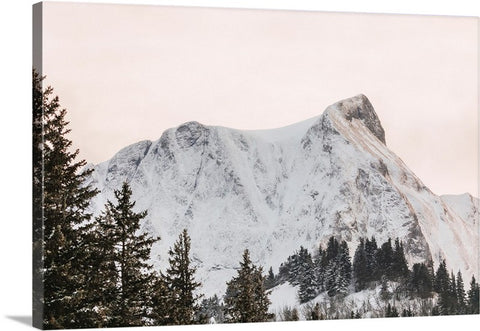 Winter Mountains Canvas Wall Art Print