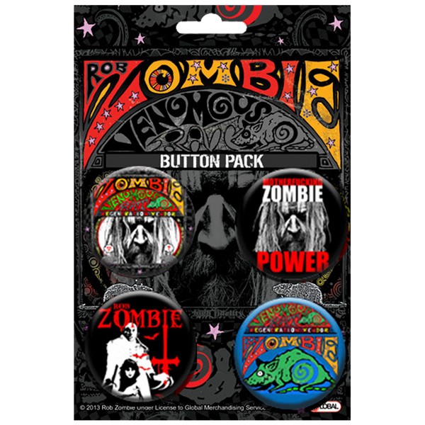 Rob Zombie button pack
