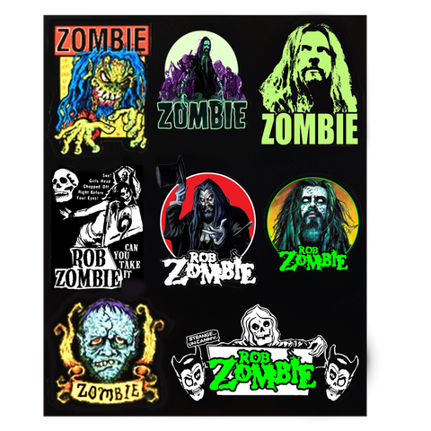Zombie 8 Sticker Set