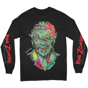 Howling Man Portrait Long Sleeve Tee