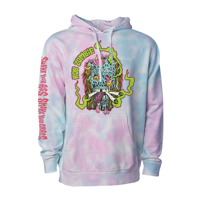 Smoke Your Grass Tie Dye Hoodie