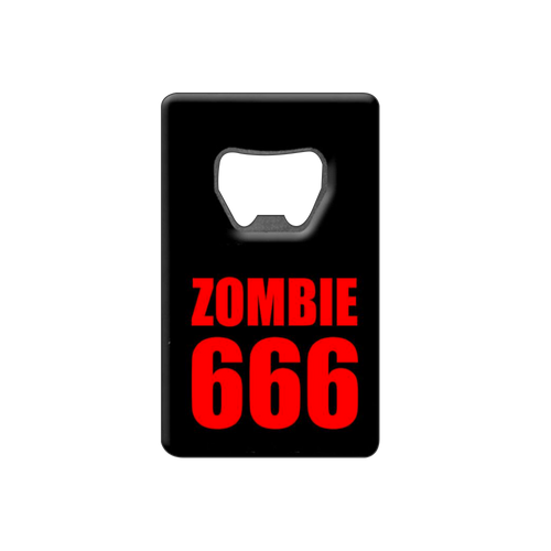 Zombie 666 Credit Card Bottle Opener