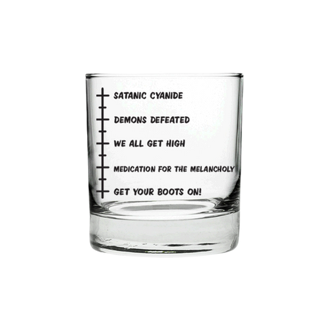 Satanic Cyanide Drinking Kit Glass