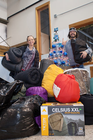 Distinctive Dentistry Bend Oregon donated sleeping bags to homeless this Christmas