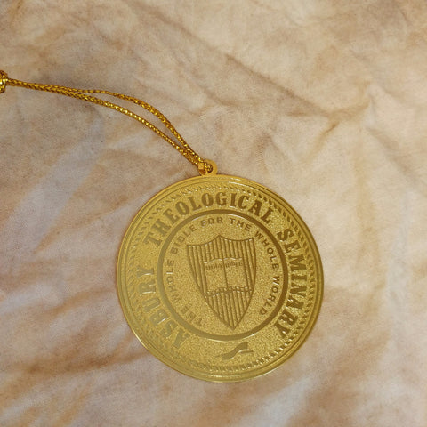 Gold Asbury Seal Ornament