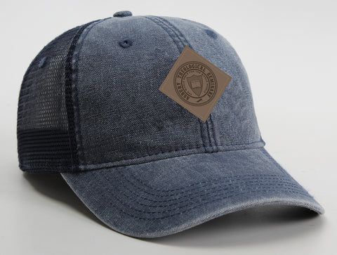 AHEAD USA® Classic Cut Leather Patch Hat