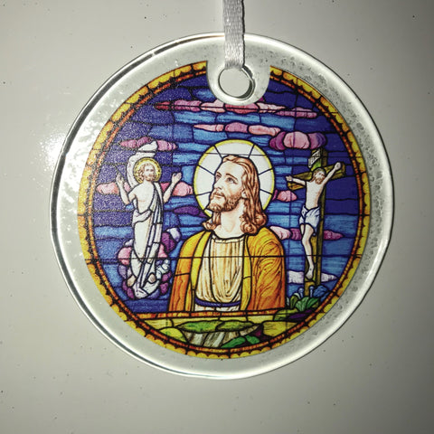 Estes Chapel Christos Window Ornament