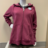 Women's Full Zip Hoodie Heather Red