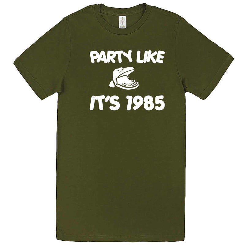 """Party Like It's 1985 - Hippo Games"" men's t-shirt Army Green"