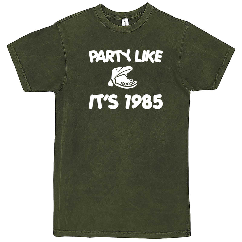 """Party Like It's 1985 - Hippo Games"" men's t-shirt Vintage Olive"