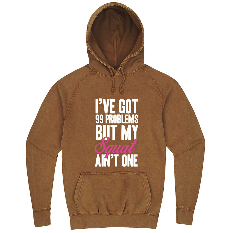 """I Got 99 Problems But My Squat Ain't One"" hoodie, 3XL, Vintage Camel"