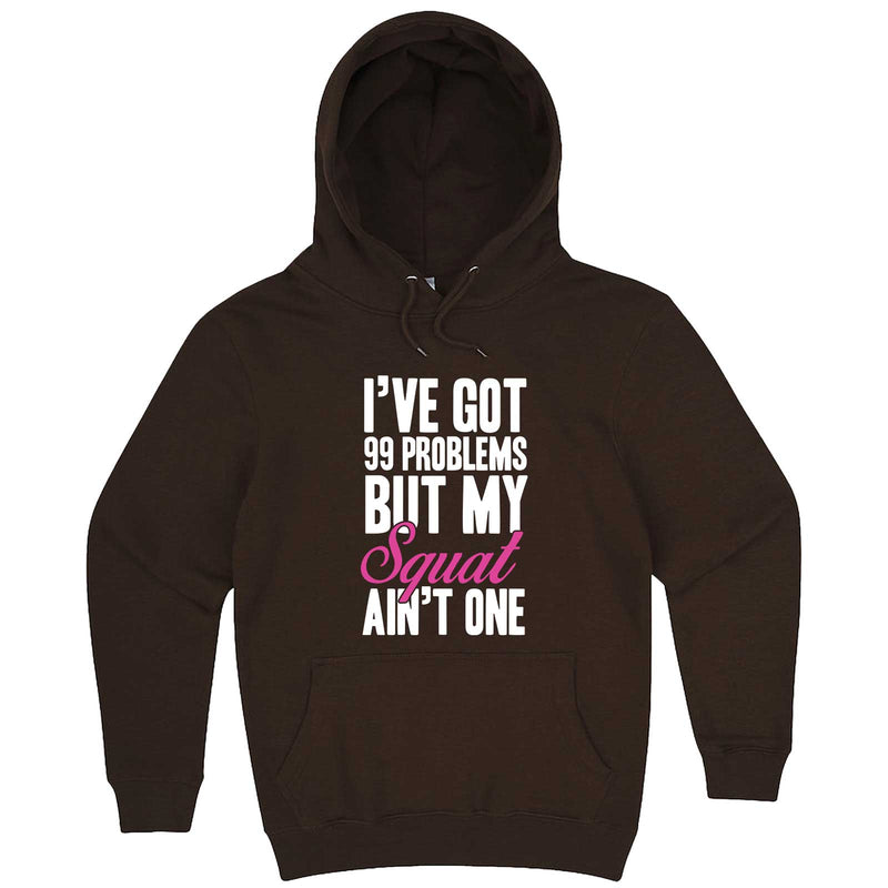 """I Got 99 Problems But My Squat Ain't One"" hoodie, 3XL, Chestnut"