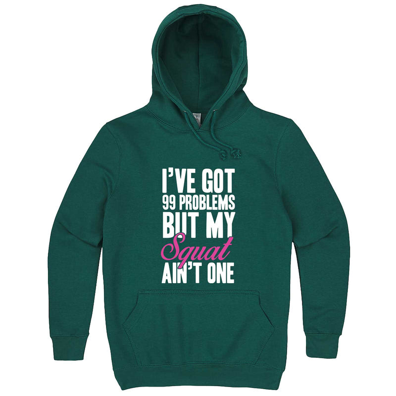 """I Got 99 Problems But My Squat Ain't One"" hoodie, 3XL, Teal"