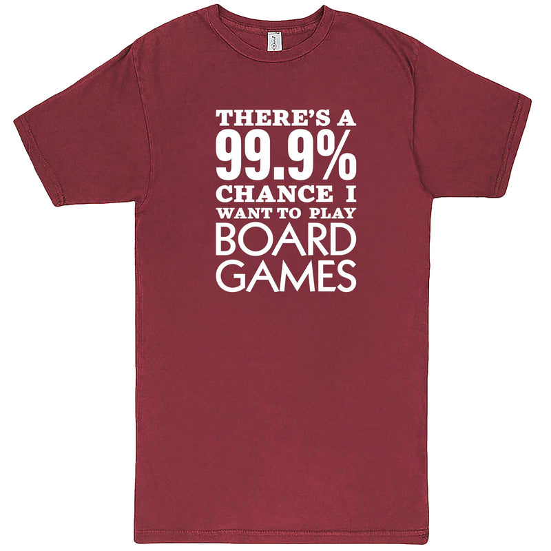 """There's a 99% Chance I Want To Play Board Games"" men's t-shirt Vintage Brick"