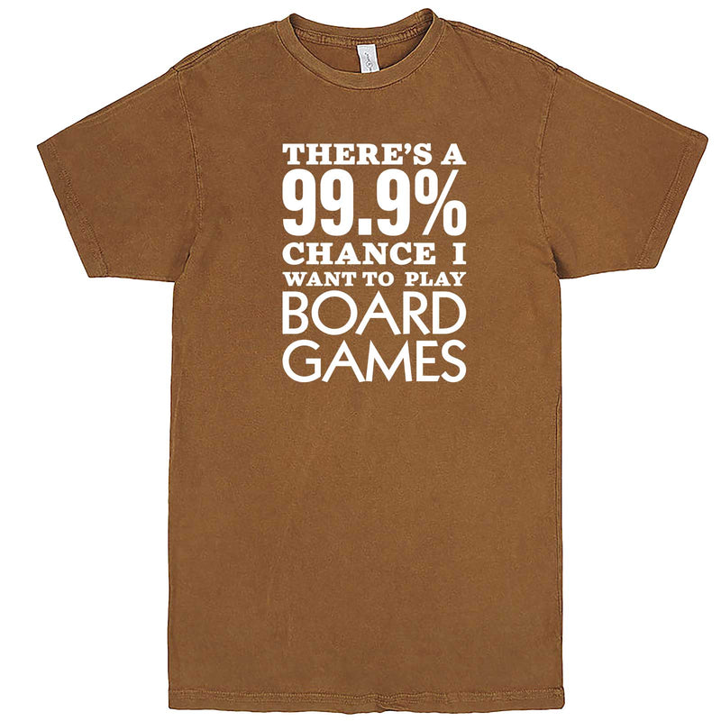 """There's a 99% Chance I Want To Play Board Games"" men's t-shirt Vintage Camel"