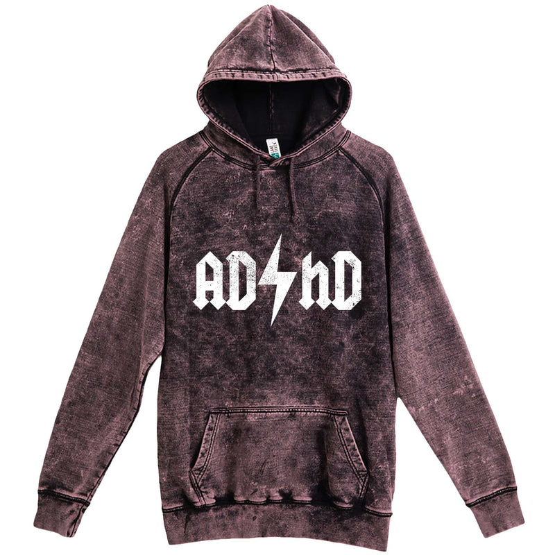 """AD/HD Concert Tee"" hoodie, 3XL, Vintage Cloud Black"
