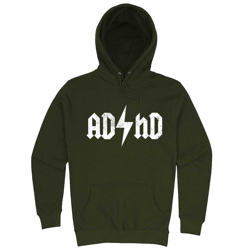 """AD/HD Concert Tee"" hoodie, 3XL, Army Green"
